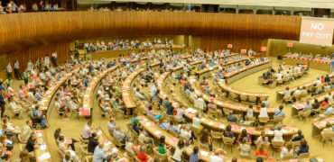 Geneva work stoppage: UN staff protest 7.7 percent pay cut